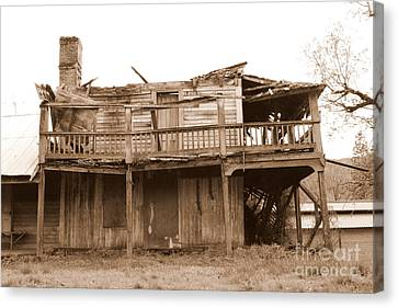 Old Stagecoach Stop Canvas Print by Marie Neder