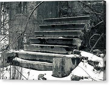 Old Stairs To Nowhere Canvas Print by Jeff Severson
