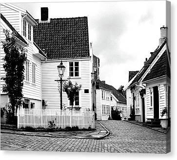 Old Stavanger I Canvas Print by Helene Sobol