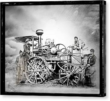 Old Steam Tractor Canvas Print