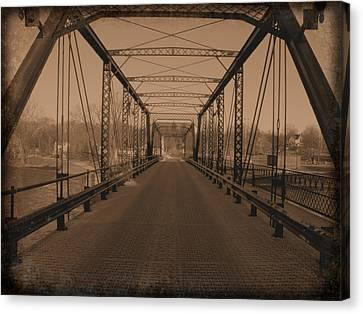 Old Steel Bridge Canvas Print by Scott Hovind
