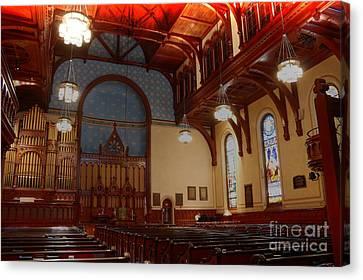 Old Stone Church -2 Canvas Print by David Bearden