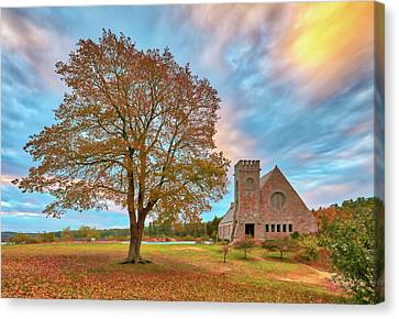 Canvas Print featuring the photograph Old Stone Church by Juergen Roth