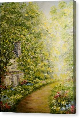Old Stone Cottage Canvas Print by Leea Baltes