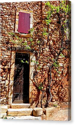 Old Stone House In Provence Canvas Print by Olivier Le Queinec