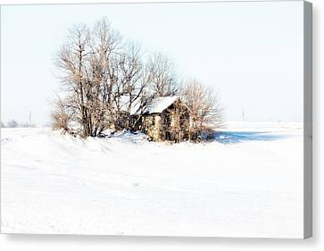 Old  Stone House Milford Canvas Print by Julie Hamilton