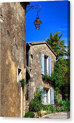 Old Stone Houses In Provence Canvas Print by Olivier Le Queinec