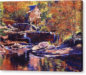 Mills Canvas Print - Old Stone Millhouse by David Lloyd Glover
