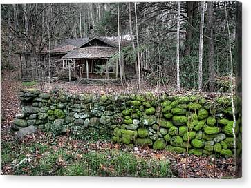 Old Stone Wall Canvas Print by Mike Eingle
