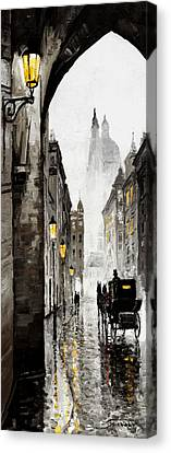 Old Street Canvas Print by Yuriy  Shevchuk