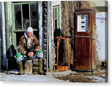 Canvas Print featuring the photograph Old Stuff by Edward R Wisell