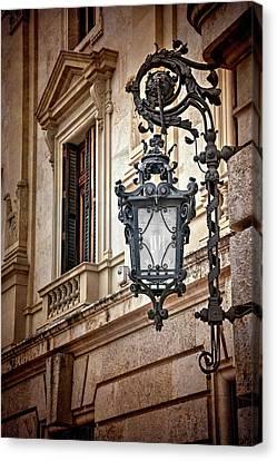 Streetlight Canvas Print - Old Style Street Lamp In Valencia Spain  by Carol Japp
