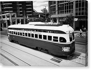 Old Style Toronto Transit System Ttc Tram Streetcar Ontario Canada Canvas Print by Joe Fox