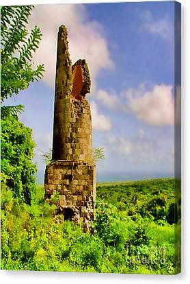 Old Sugar Mill Canvas Print by Louise Fahy
