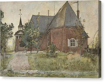 Old Sundborn Church. From A Home Canvas Print by Carl Larsson