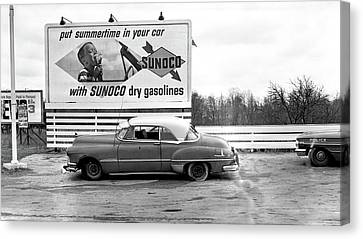 Old Sunoco Sign Canvas Print