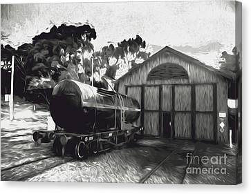 Old Tanker Train Carriage Fine Art Canvas Print by Jorgo Photography - Wall Art Gallery