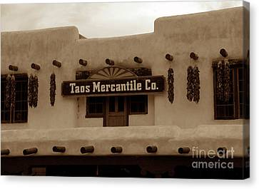 Old Taos Canvas Print by David Lee Thompson