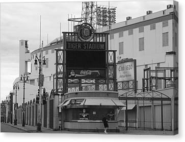 Old Tiger Stadium  Canvas Print by Sabrina  Hall