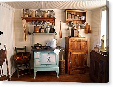 Crocks Canvas Print - Old Time Farmhouse Kitchen by Carmen Del Valle