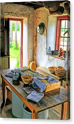 Old Time Kitchen At Old World Wisconsin Canvas Print