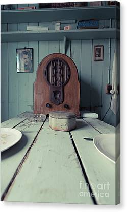 Canvas Print featuring the photograph Old Time Kitchen Table by Edward Fielding