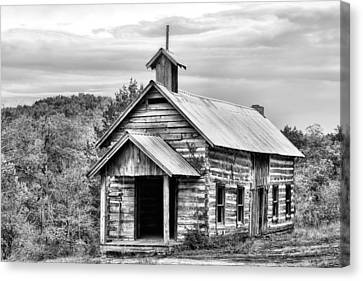 Old Time Religion Bw Canvas Print by JC Findley