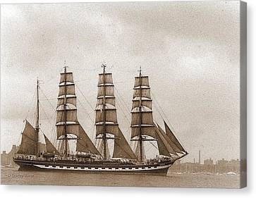 Old Time Schooner Canvas Print