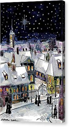 Old Time Winter Canvas Print by Mona Edulesco