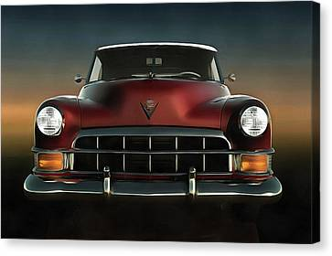 Old-timer Cadillac Convertible Canvas Print by Jan Keteleer