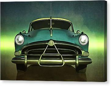 Old-timer Hudson Hornet Canvas Print by Jan Keteleer