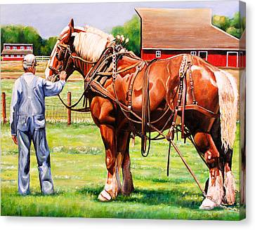Overalls Canvas Print - Old Timers by Toni Grote