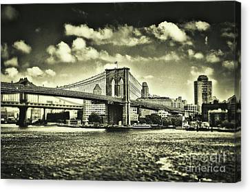 Old Times In Brooklyn Canvas Print by Alessandro Giorgi Art Photography
