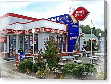 Old Timey Dairy Queen Canvas Print by Patricia L Davidson