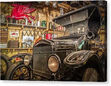 Old Timey Garage Canvas Print