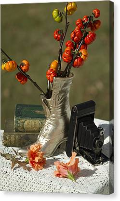 Old Timey Still Life Canvas Print by Kathy Clark