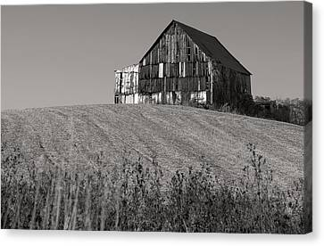 Old Tobacco Barn Canvas Print by Don Spenner