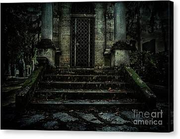 Old Tomb Canvas Print by Mythja Photography