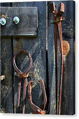 Old Tools Canvas Print by Joanne Coyle