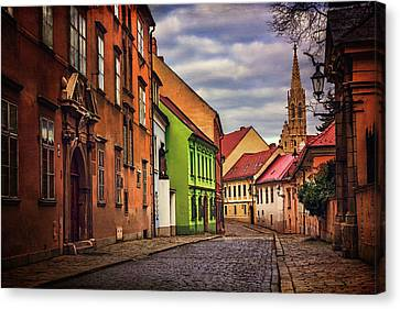 Red Roof Canvas Print - Old Town Bratislava  by Carol Japp