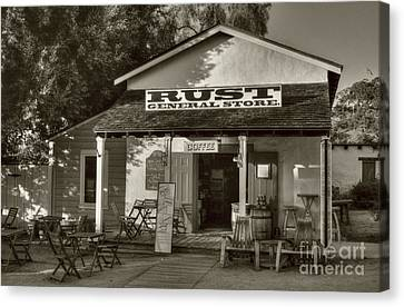 Old Town General Store Sepia Tone Canvas Print by Mel Steinhauer