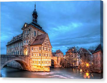 Old Town Hall - Bamberg Canvas Print by Nico Trinkhaus