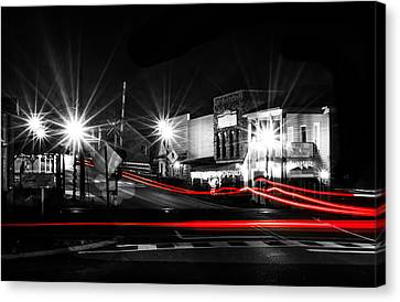 Old Town Helena At Night Canvas Print by Shelby  Young