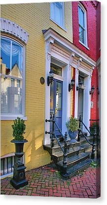 Old Town Homes I Canvas Print by Steven Ainsworth