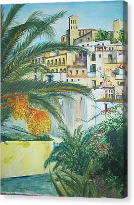 Old Town Ibiza Canvas Print by Lizzy Forrester