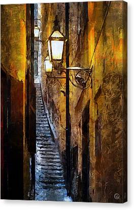 Old Town In Stockholm Canvas Print