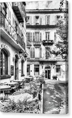 Old Town Of Arles 4 Bw Canvas Print