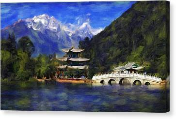 Old Town Of Lijiang Canvas Print by Vincent Monozlay