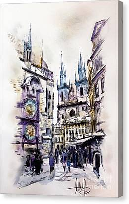 Old Town Square In Prague Canvas Print by Melanie D