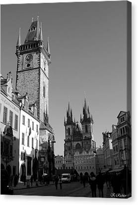 Old Town Square Canvas Print by Keiko Richter